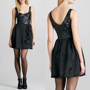 Nanette Lepore Magic Carpet Black Leather Dress